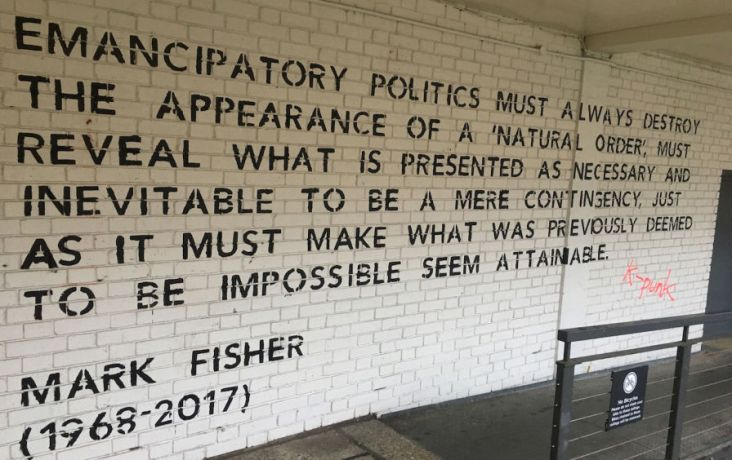 Mark Fisher mural at Goldsmiths University in London . (Tamar Shlaim / Repeater Books)